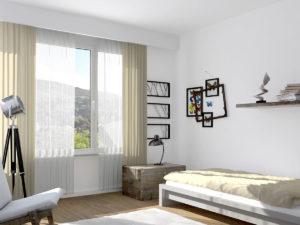 3,5-Zi. Whg - Stimmungsbild Schlafzimmer 1