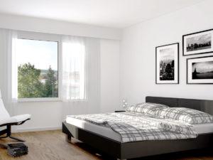 3,5-Zi. Whg - Stimmungsbild Schlafzimmer