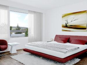 4,5-Zi. Whg - Stimmungsbild Schlafzimmer 2